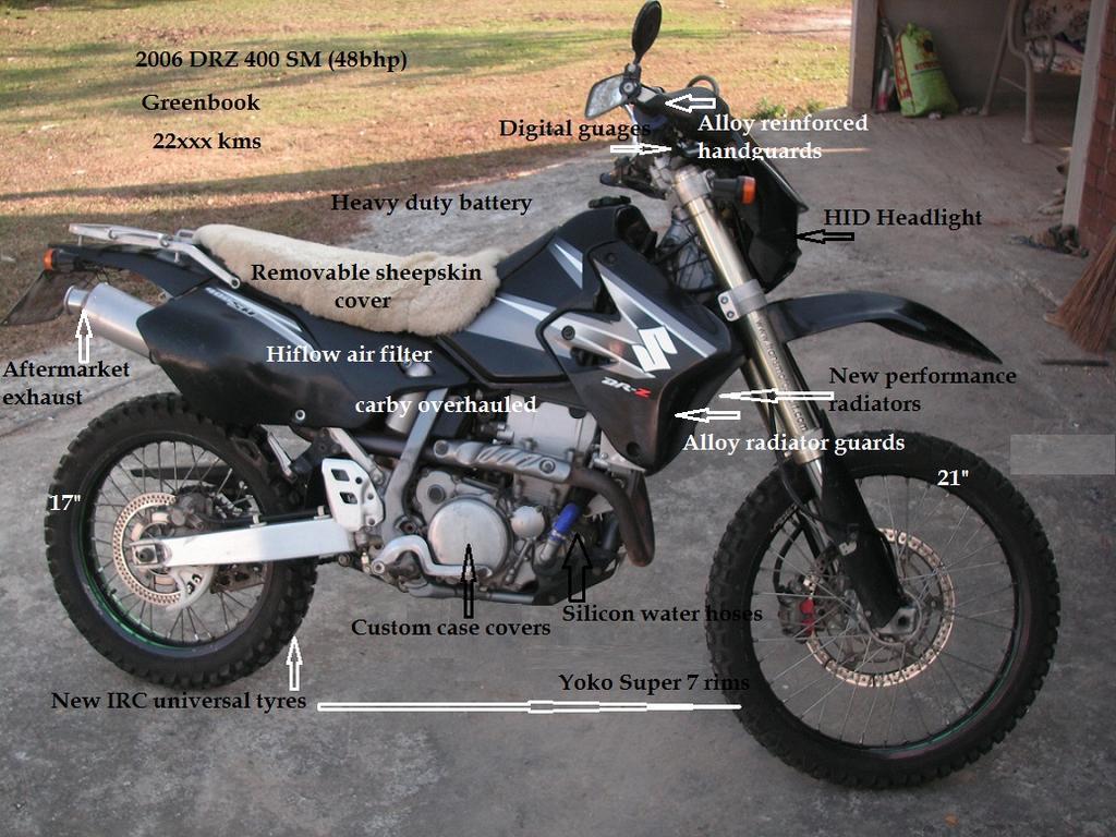 Suzuki 2006 DRZ400 SM (48bhp) | Ride Asia Motorcycle Forums